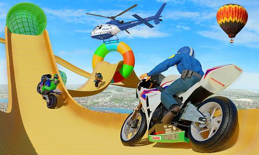 Police Bike Stunt GT Race Game Apkfinish screenshots 2