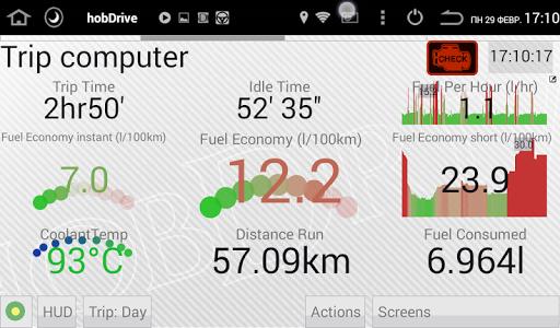 HobDrive OBD2 ELM327, car diagnostics, trip comp 1.6.12 Screenshots 1