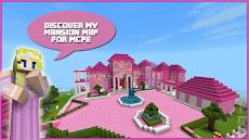 Map Pink Princess House for MCPEのおすすめ画像1