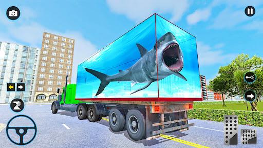 Sea Animals Transport Truck Driving Games  screenshots 4