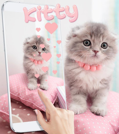 Pink Cute Kitty Cat Theme 1.2.4 screenshots 2