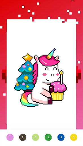Unicorn Art Pixel - Color By Number  Screenshots 3