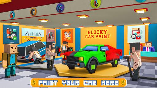 Blocky Car Wash Service Workshop Garage 1.7 screenshots 1