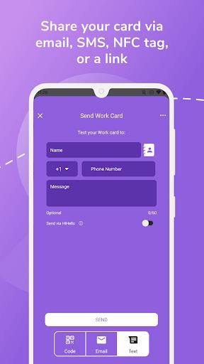 HiHello: Digital Business Card Maker and Organizer android2mod screenshots 6
