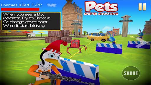 Shooting Pets Sniper - 3D Pixel Gun games for Kids screenshots 4