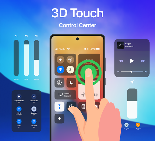 iCenter iOS14 - Control Center & iNoty iOS14  Screenshots 5