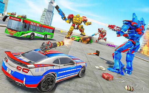 Bus Robot Car Transform War –Police Robot games 3.9 pic 2
