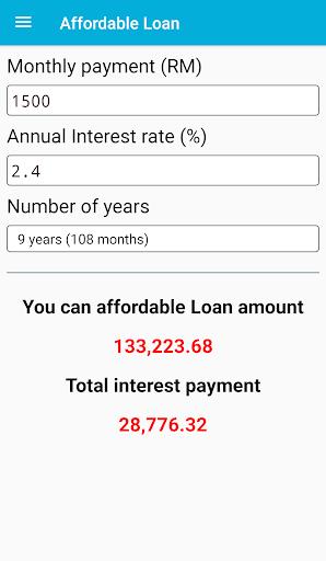 Car Loan Calculator (Malaysia)  screenshots 6