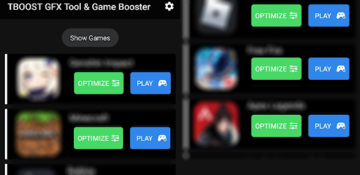 TBOOST Game Booster & GFX Tool Versi 1.2.2