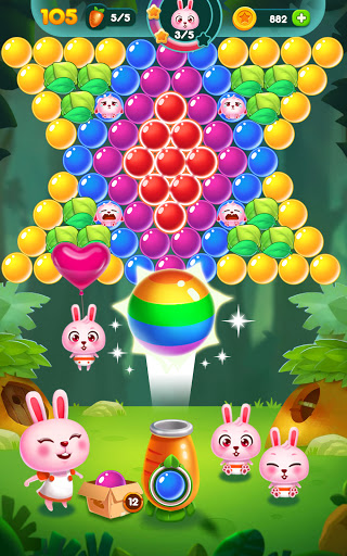 Bubble Bunny: Animal Forest Shooter apkpoly screenshots 12