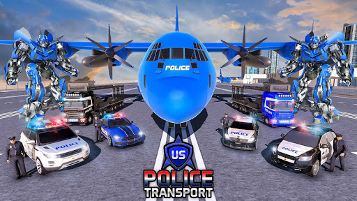 US Police Robot Transform - Police Plane Transport  screenshots 4