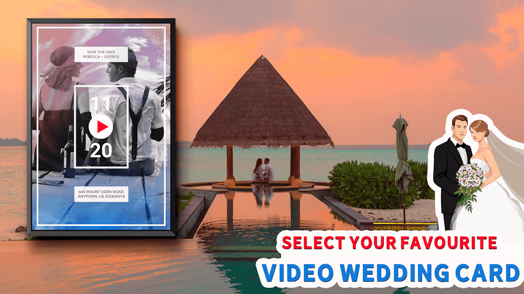 Wedding Card Design & Photo Video Maker With Music  poster 1