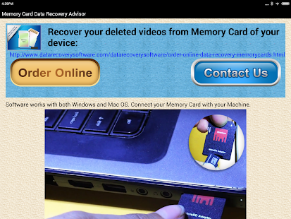 Memory Card Data Recovery Help