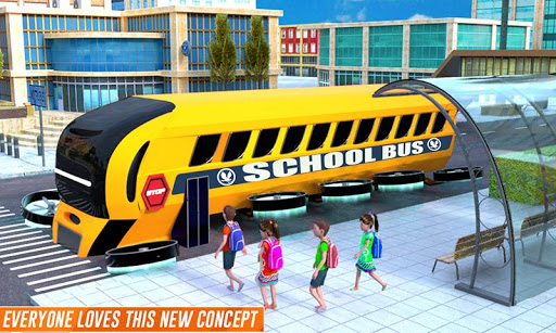 Flying School Bus Robot: Hero Robot Games apkmr screenshots 6