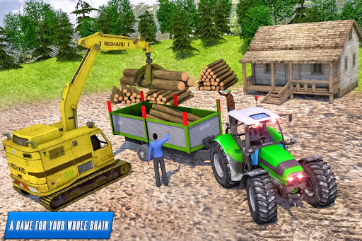 Drive Tractor trolley Offroad Cargo- Free 3D Games apkslow screenshots 18