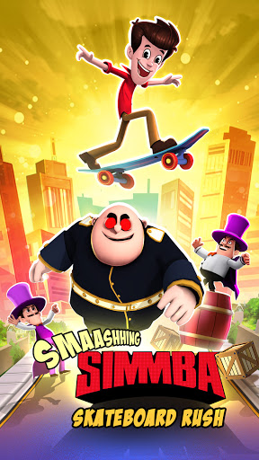 Smaashhing Simmba - Skateboard Rush screenshots 1