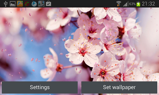 Cherry Blossom Live Wallapper Screenshot