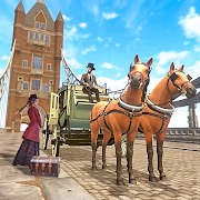 Horse Cart Taxi Drive 2021: Horse Racing Games