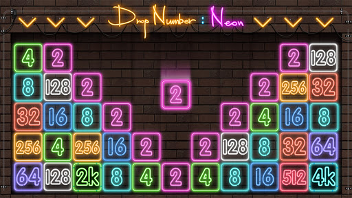 Drop Number : Neon 2048 apktram screenshots 9
