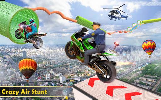 Police Bike Stunt GT Race Game Apkfinish screenshots 15