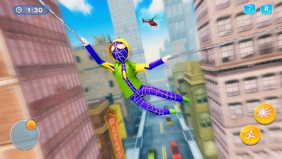 Stickman Rope Hero 2021 - Flying Hero Crime City