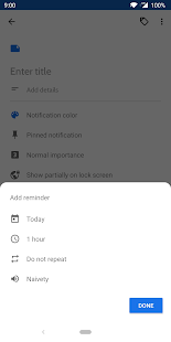 Collateral - Notes, Lists & Reminder Notifications Screenshot