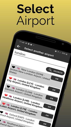 east midlands airport: flight information screenshot 3