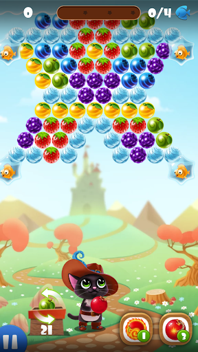 Fruity Cat -  bubble shooter! filehippodl screenshot 2