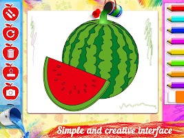Drawing populer fruits for kids - drawing book