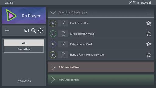 Da Player - Video and live stream player 4.07 Screenshots 5