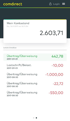 comdirect mobile App  screenshots 1