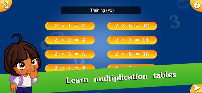 Free Math games for kids – Multiplication table (2х2) 5