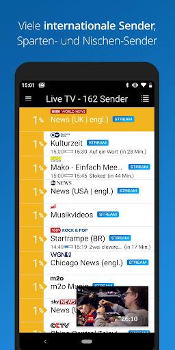 Foto do Live TV mit Daten-Spar-Modus für unterwegs