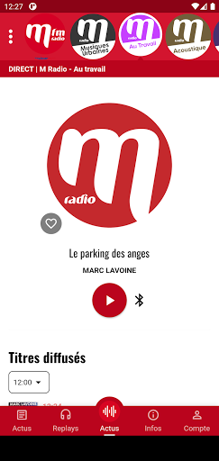 M Radio french songs  screenshots 1