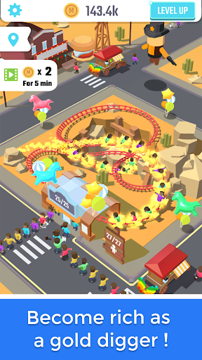 Idle Roller Coaster android2mod screenshots 4