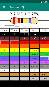 Resistor Color Code – Calculator (PRO) 1.1 Apk 2