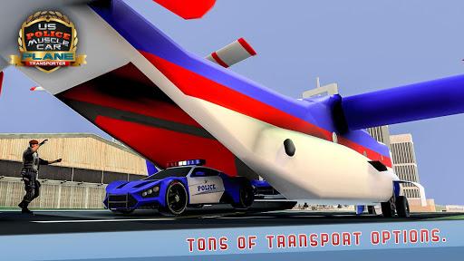 US Police Muscle Car Cargo Plane Flight Simulator 4.7 screenshots 2