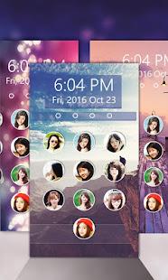 Photo keypad lockscreen