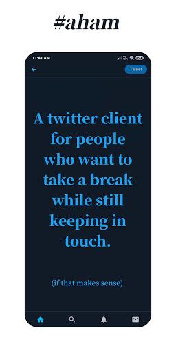 Aham   Minimal Twitter v0.4 screenshots 1