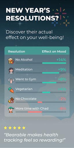 Bearable - Symptoms & Mood tracker modavailable screenshots 1
