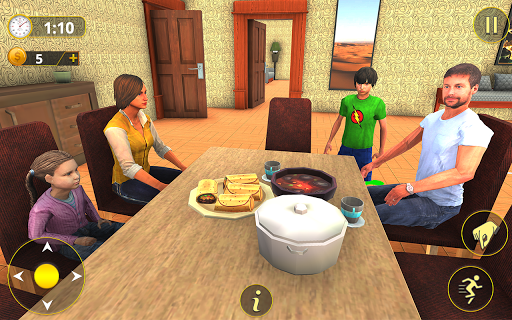 Happy Family Life Dad Mom - Virtual Housewife Care screenshots 1