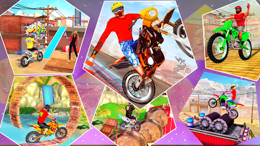 Bike Stunt Racer 3d Bike Racing Games - Bike Games apkslow screenshots 10