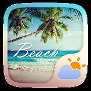 Beach GO Weather Widget Theme  Icon