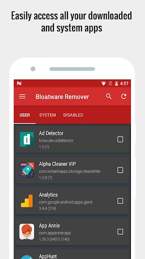 Bloatware Remover FREE [Root] 1.3.2.0 Screenshots 8