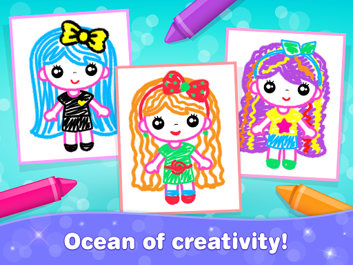 Kids Drawing Games for Girls! Apps for Toddlers!  screenshots 21