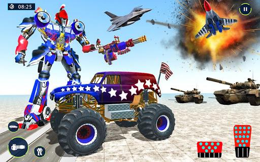 US Police Monster Truck Robot Transform  screenshots 1