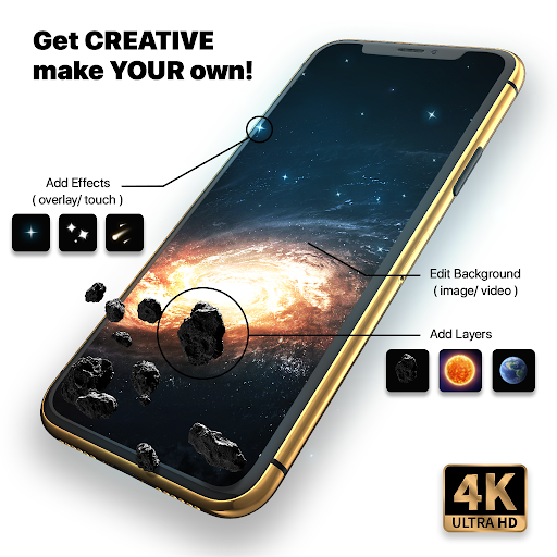 Live Wallpapers 4k & HD Backgrounds by WAVE 4.5.5 Screenshots 7