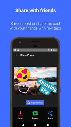 Reposter for Instagram: Download & Save 3.9.7 screenshots 1