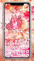 Luxury Floral Butterfly Keyboard Theme