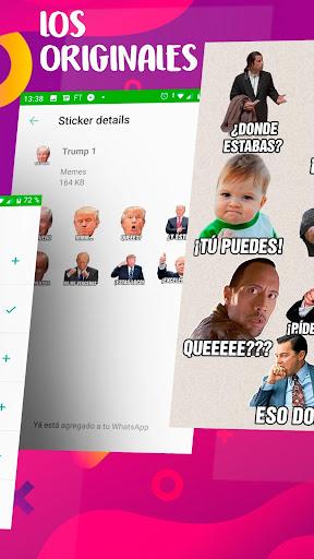 Memes con Frases Stickers en espau00f1ol para WhatsApp  Screenshots 2